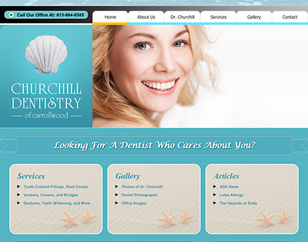 Churchill Dentistry of Carrollwood - Tampa Dentist specializing in General and Cosmetic Dentistry