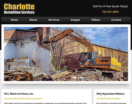 www.CharlotteDemolitionServices.com - Charlotte's best resource for Demolition and Dismantling Services
